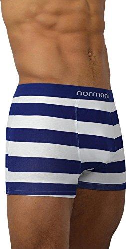 4 x Herren Unterwäsche Boxershorts original normani® Exclusive Farbe Navy Strype Größe S