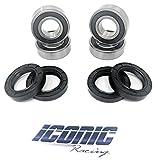 #3: 97-16 Honda TRX 250 TRX 250TM TRX 250TE Recon 250 2x4 BOTH Front Wheel Bearing and Seal Kits