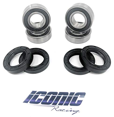 Iconic Racing Both Front Wheel Bearing and Seal Kit Compatible With 97-16 TRX 250 TRX 250TM TRX 250TE Recon 250 2x4 Only