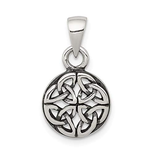 - 925 Sterling Silver Pendant Charm Necklace Celtic Claddagh Fine Jewelry Gifts For Women For Her