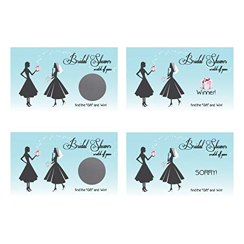 My Scratch Offs Scratch-Off Cards, Bachelorette Party/Bridal Shower Game (Blue Vintage) ()