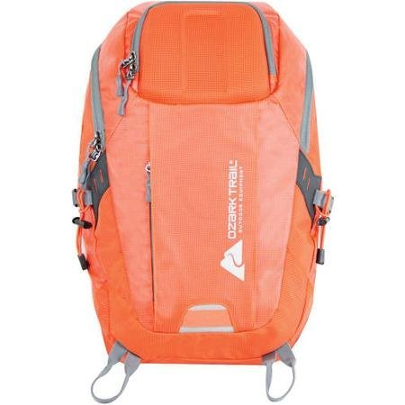 Cheap Ozark Trail Hollow Sky Daypack, Orange, Hydration Compatible, Made of Nylon and PVC Material, Durable, Hiking, Camping, Outdoor, Travel, OT16004011OR