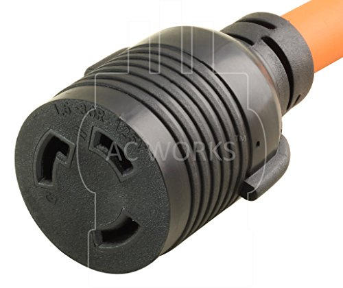 AC Connectors [S515L530-012] 1FT STW 10/3 NEMA 5-15P 15Amp Household Plug to NEMA L5-30R 30Amp Locking Female Connector Adapter cord by AC WORKS (Image #3)