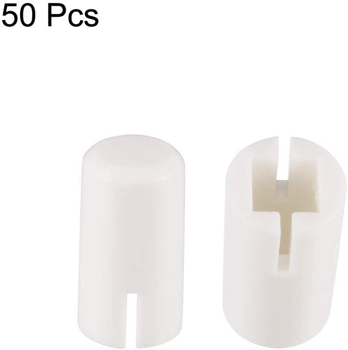 50Pcs Plastic 5x9mm Push Button Switch Caps Cover White Keys for 6x6x7.3mm Tact Switch