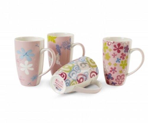 - Maxwell & Williams Pink Paradise 14-oz. Mug - Set of 4 - Gift Boxed