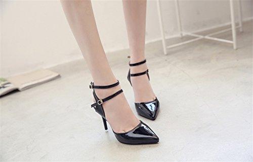 Stiletto De Robes Baotou 34 Mode Femmes black Fête Sandales Femmes 38 xie La Chaussures Conseils Augmenter Sandales HqtFwwgx