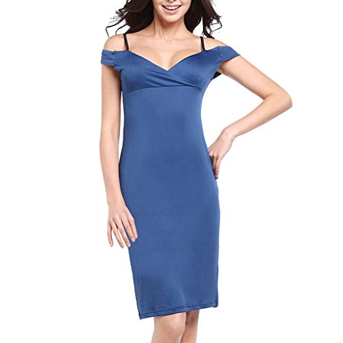 Sunhusing Women's Stylish Sexy Solid Color Strapless Sling High Waist Stretch Pencil Dress Bag Hip Dress -