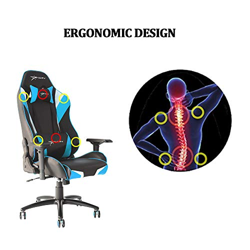 Ewin Gaming Chair Office Chair 4D Armrests PU Leather