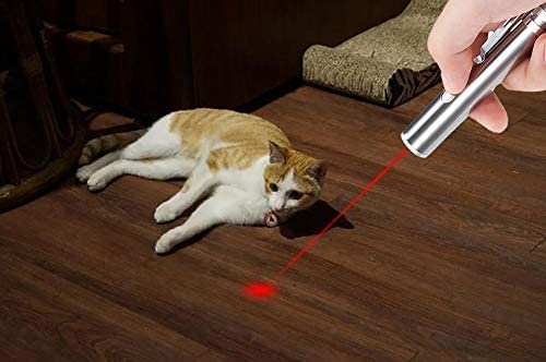 GO! Rechargeable Pet Training Exercise Chaser Tool, 3 Mode,Cat Light Toy (2 Packs)+A Pet Tag 8