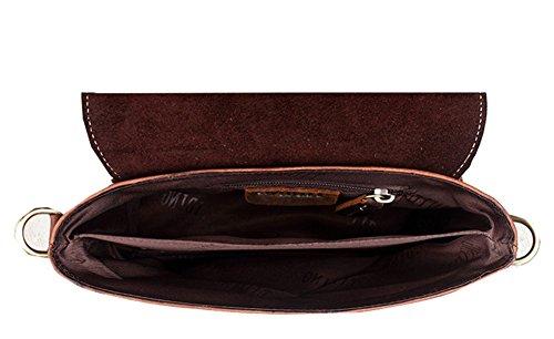 Modelshow Hombre de cuero retro mini Messenger Bag Bolsa de hombro cintura paquetes