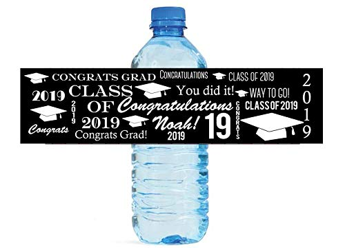 Graduation Themes For High School (Congrats Grad Graduation Theme Water Bottle Label College High School)