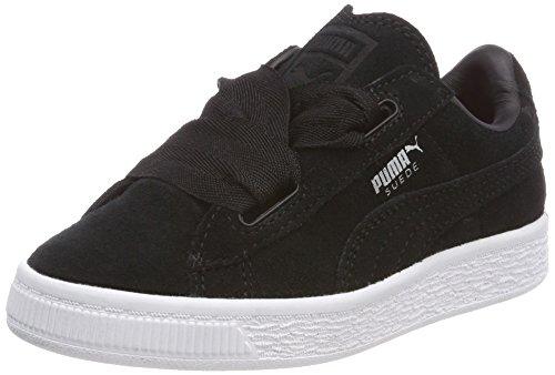 Puma Mädchen Suede Heart Valentine PS Sneaker, Schwarz Black Black, 28 EU