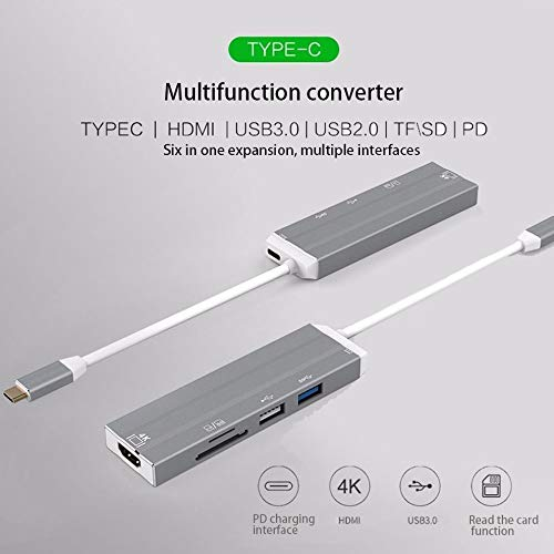 Mouchao Pratico Type-C USB C a 4K HDMI USB 3.0 2.0 SD Card Reader Adattatore per hub PD