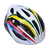 WQQ High-Breathability PVC+EPS Black Bicycle Helmet With Detachable Sunvisor (20Vents) - Yellow + White + Green + Red