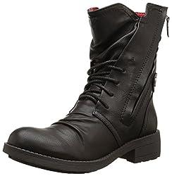 Rocket Dog Women's Tyree Spartan Pu Boot, Black, 6 M US