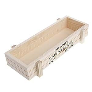 allrise florero de madera, Vintage madera jardín maceta Pot Rectángulo caja de maceta plantas suculentas cama