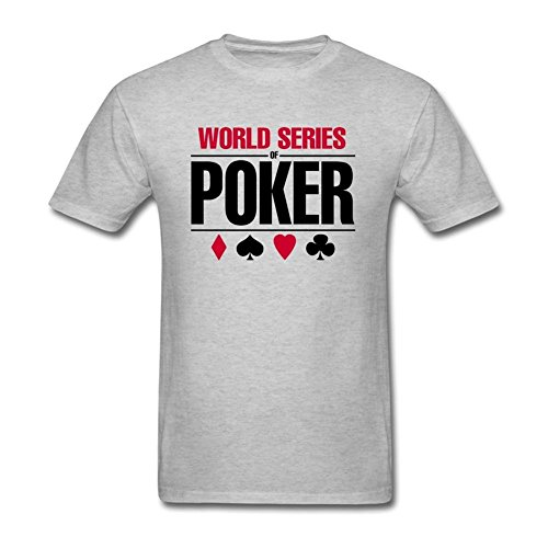 XIULUAN Men's Series Of Poker Wsop Logo T-shirt Size L ColorName (Shirts Wsop Poker)