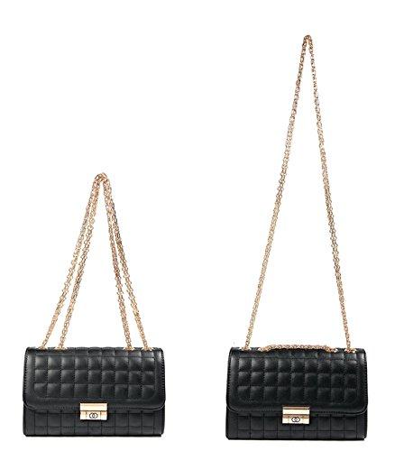 Bags Women's Satchel Golden Crossbody Classic Beige Purse Shoulder Quilted Handbags Chain Xq7wHqTA