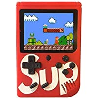 Buddymate SUP Game Portable Video Game Box with Mario, Super Mario, DR Mario, Contra, Turtles, and Other 400 Games with Battery Included (Random Colour)