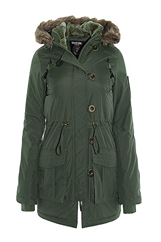 Brave Soul - Chaqueta - Parka - para mujer Verde