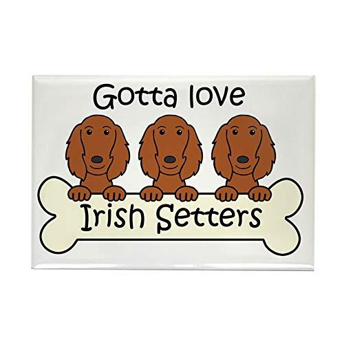 CafePress Irish Setter Rectangle Magnet, 2