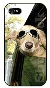 iPhone 5 / 5s Hipster dog for car trip - black plastic case / dog, animals, dogs