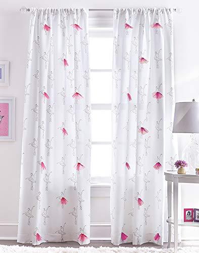 CHF Ballerina Tulle Rod Pocket Curtain Panel
