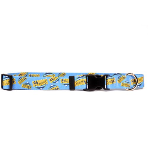 Yellow Dog Design Denver Nuggets 18-Feet to 28-Feet Collar, Large