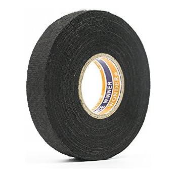 amazon com tesa black fuzzy fleece interior wire loom harness black fuzzy fleece interior wire loom harness tape for vw audi mercedes bmw 19 mm x 15 meters