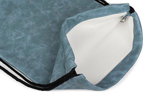 styleBREAKER bolsa de deporte de cuero artificial, mochila, bolsa de deporte, bolso, unisex 02012189, color:Gris claro azul