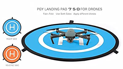 gouduoduo2018 75cm PGY RC Drone launch pad Quadcopter Helicopter Mini landing pad helipad Dronepad DJI Mavic phantom 2 3 4 inspire 1 protective Accessories