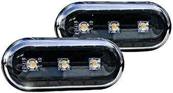 Led Seitenblinker Klar Schwarz Oval Links Rechts Set E Prüfzeichen Eintragungsfrei Auto