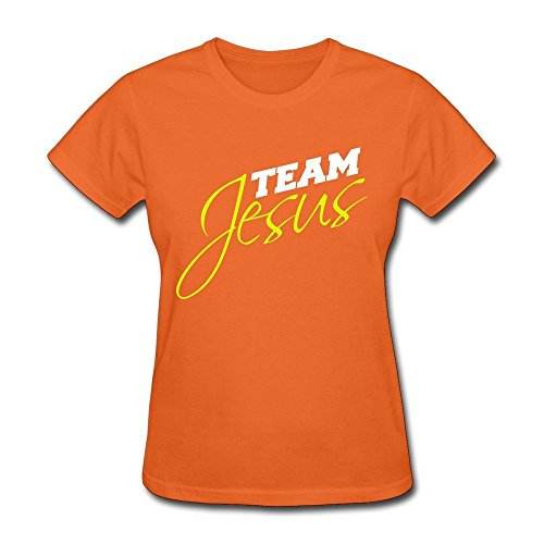 HD-Print Particular Team Jesus Tee For Women Orange Size -