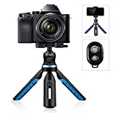 K&F Concept Phone Camera Tabletop Mini Tripod Cell Phone Clip Holder, Compatible with Phone, Smartphones, Gopro, Webcams, Compact Cameras DSLRs