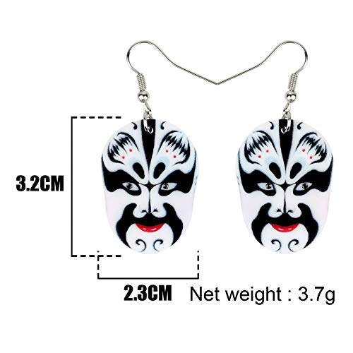 IUTING Statement Acrylic Floral Chinese Beijing Opera Masks Earrings Drop Dangle Ancient Jewelry for Women Girls Charms Gift New