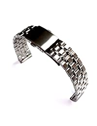 18mm Shiny+ Matt New New Stainless Steel Watch Band Men Women