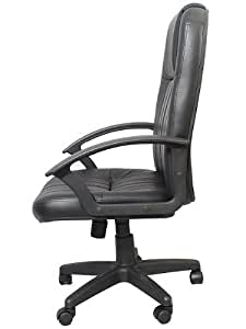 """Pendleton"" Leather Executive Office Chair w/ Black Base & Gas Lift & Tilt w/ Lumbar Support"