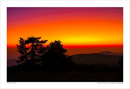 110813-68 Samurai Sunrise. 13x19, 16x24, 20x30 inches Fine Art Print, Mountain Sunrise. Best for Home and Office Art Decor. Twilight.