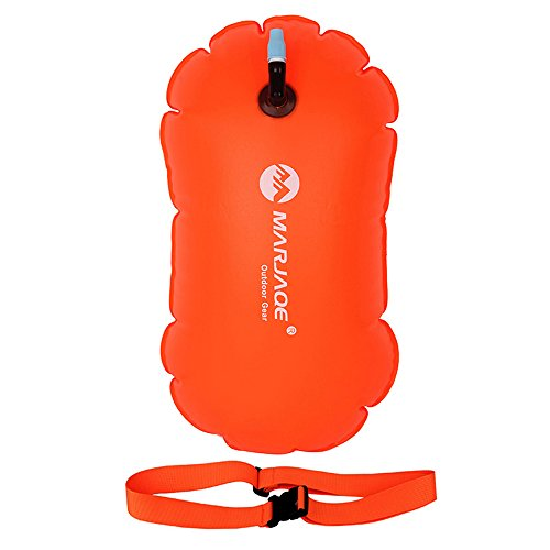 Swim Bubble for Open Water Swimmers and Triathletes & SUP Kayak Accessories - Water Sport Inflatable Swim Buoy Waterproof Dry Bag for Kids and Adults Swimming Outdoors, Safety Swim Buoy ()