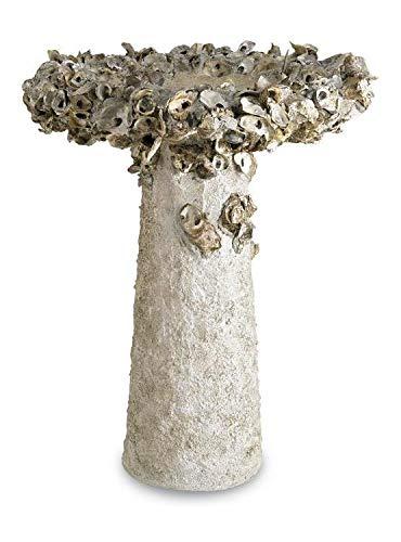 Oyster Shell Birdbath by Currey