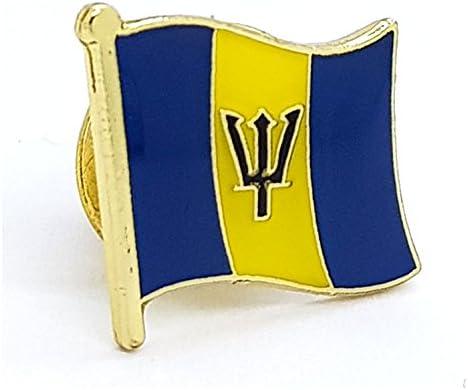 Shopiyal Broche con diseño de Bandera Nacional de Barbados, esmaltado de Metal: Amazon.es: Hogar