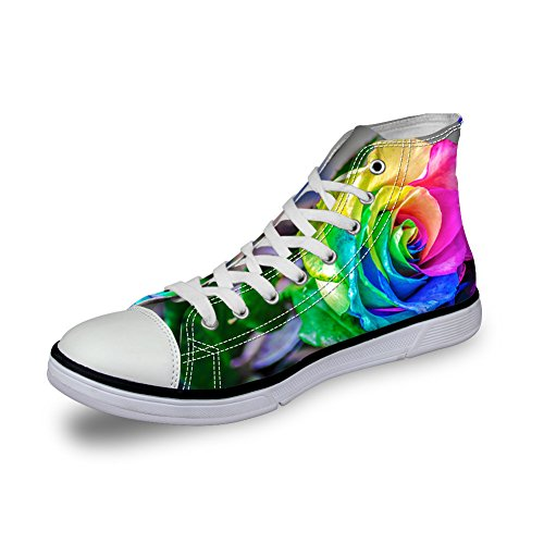 5 U DESIGNS Fashion Canvas Breathable Casual FOR Sneakers Trainer Flower Shoes Women 3D Floral H6UqxOwA