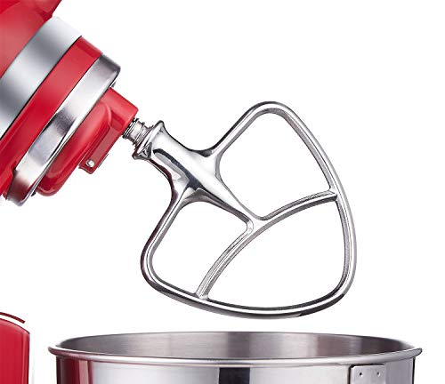 Burnished Stainless Flat Beater for KitchenAid 4.5-5 Qt. Tilt-Head Stand Mixers Accessory Dishwasher-Safe Blade by Gvode (Kitchen Aid Mixer K45sswh)