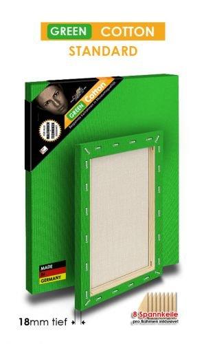 Grün COTTON - STANDARD - Bespannte Keilrahmen Größe 100x300cm    B01BKGIM3O | Charakteristisch  c4b0f2