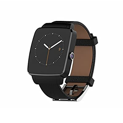Bluetooth Smart Watch OUMAX S6 Edge for Android Smart Phones (Full Function Support for Android 4.3 to Android 6.0) - IPS Display/Curved Screen/Replacement Premium Leather Strap