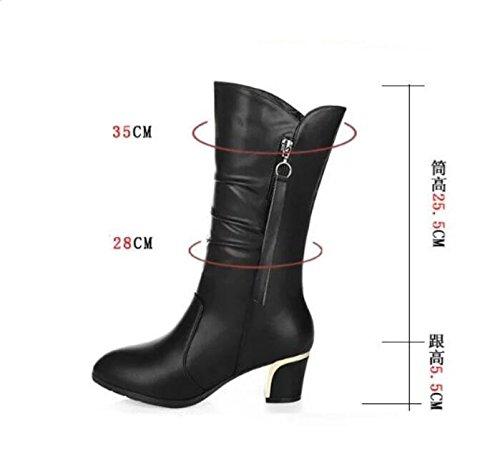 Bottes femelle Thirty nouvelles avec Bottes new Chaussures seven avec épais en d'hiver Bottes Bottes Femme Khskx qvXFwf