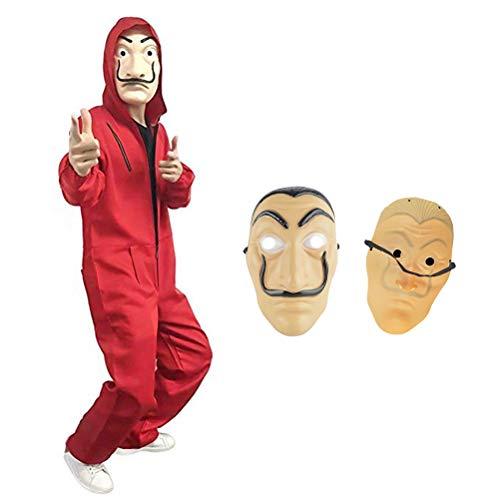 Scary Costumes Wiyh Yellow Rain Coat - Unisex Funny Cosplay Dali Clowns Costumes