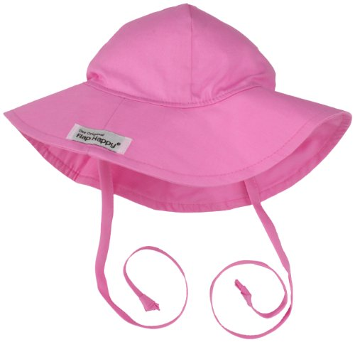 Candy Pink Sun Hat - Flap Happy Baby Girls' UPF 50+ Floppy Hat, Candy Pink, X-Small