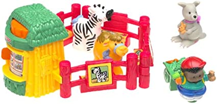 Amazon Com Fisher Price Little People Baby Zoo Animals Toys Games