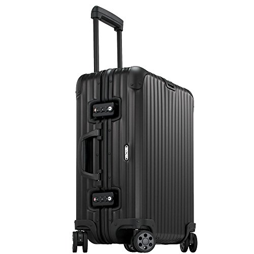 Rimowa Topas Stealth Aluminium Carry on Luggage 21' Inch Multiwheel 32L TSA Lock Spinner Suitcase Matte Black